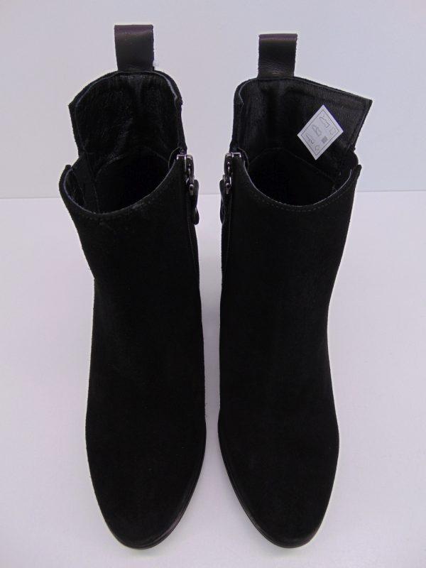 Carinii mokasyny B7603 skóra czarny lakier